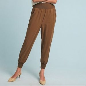 Anthropologie Maeve Cicerone Jogger Pants Olive